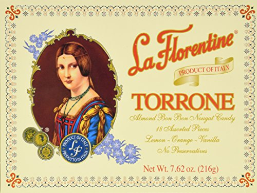 La Florentine Torrone Assortment Box 7.62oz Italian Almond Candy