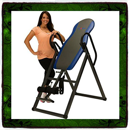 Inversion Table Deluxe Curved Chiropractic Fitness Exercise & Back Reflexology System Tables Therapy Gravity Hang Relief Ups Pain Teeter New Ironman Folding Foldable up Boots Home Gym Yoga Gyms Workout Sporting Goods Strength Training Relaxation Cardiovascular Equipment Health Care Guarantee – It Only Comes Along with Our Company's Ebook For Sale