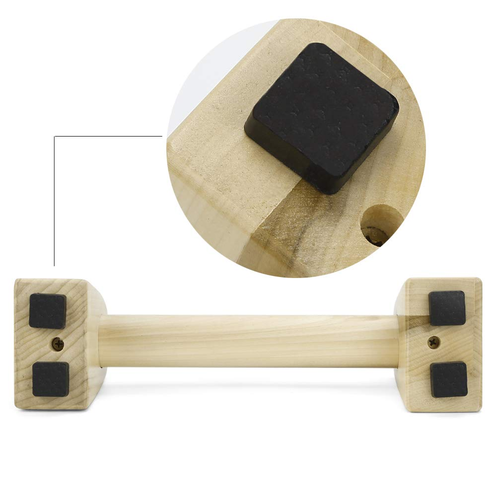 Pellor Pushup Stands Solid Exercise Wooden Push Up Bars Women Men Protable Fitness Gym Gear Equipment Workout Wood Push-up Handles