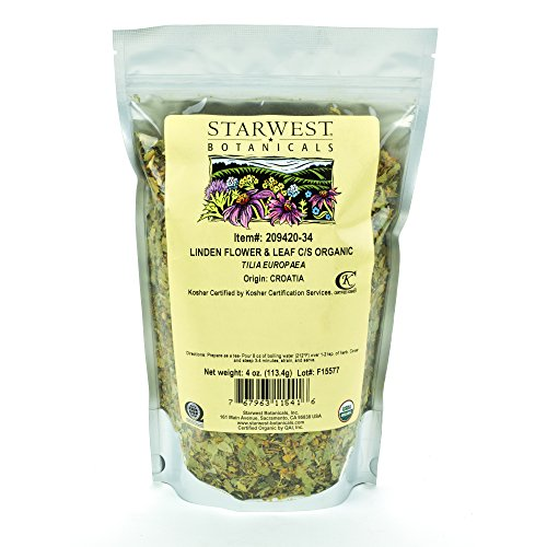 - Starwest Botanicals Organic Linden Leaf & Flower C/S, 4 Ounces