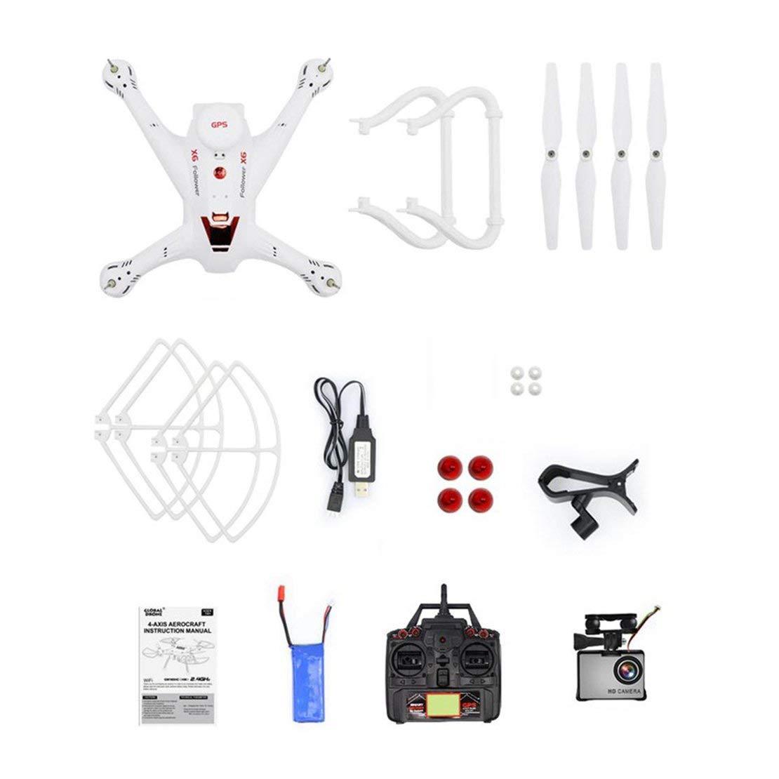 Sanzhileg X183S RC Drohne mit 720P 5G Kamera Headless Modus Höhe Halten Sie eine Taste Return Mini Fernbedienung GPS Quadrocopter - Weiß