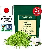 Vanilla + Matcha Green Tea Powder - Brew Delicious Vanilla Matcha Latte | Powerful SUPERFOODS Blend | Pure Japanese Matcha Powder with 100% Natural Vanilla ?? 137x Anti-OXIDANTS, 1.76oz (25 Servings)