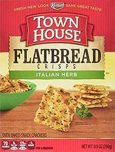 Town House Flatbread Crisps Crackers, Italian Herb, 9.5 Ounce