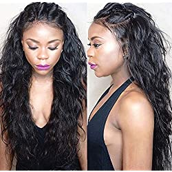 Sunwell 360 Lace Frontal Wig Water Wave 150% density Pre Plucked Hairline Glueless Virgin Brazilian Human Hair Lace Wigs for Black Women with Baby Hair 24inch