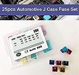 HJL 25 Pcs Automotive J Case Low Profile Fuse Assortment Set 58V 20A 30A 40A 50A 60A