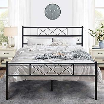 Amazon Com Vecelo Metal Platform Bed Frame Mattress