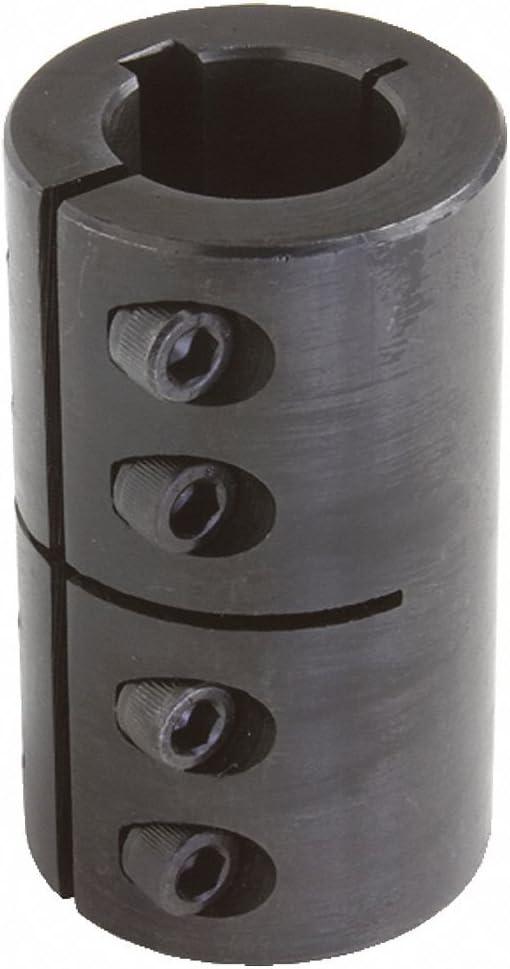 1 Piece Clamp 1//2 Bore Dia Steel Rigid Shaft Coupling