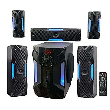 Rockville HTS56 1000w 5.1 Channel Home Theater System/Bluetooth/USB+8″...