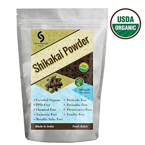 Cavin Schon USDA Certified Organic Shikakai Powder - 100% Natural/Organic & Chemical Free Hair conditioning (Shikakai Amla Powder)
