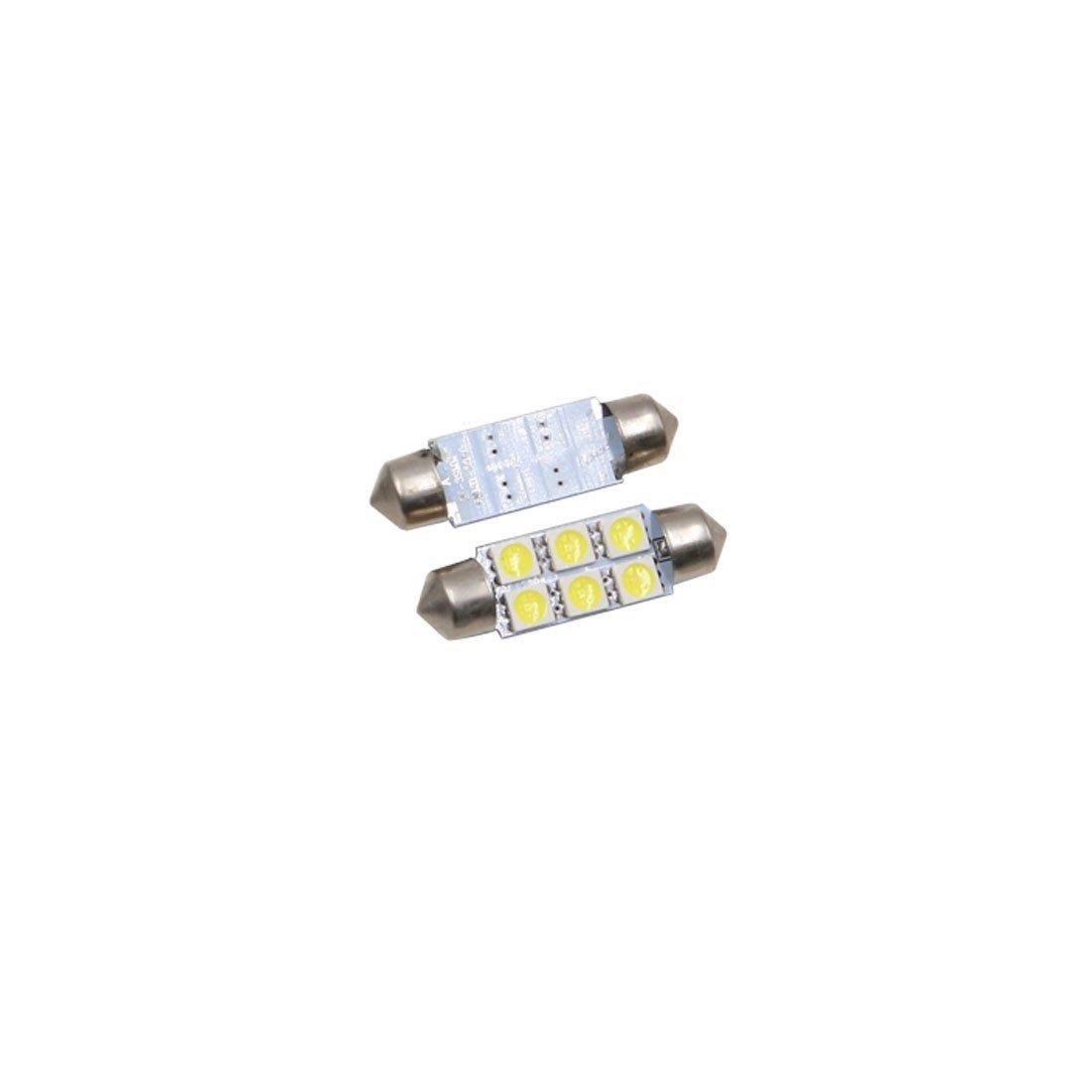 Amazon.com: eDealMax 6 piezas DE 41 mm Blanco 6 LED SMD 5050 Adorno de la bóveda Luz Para leer mapa de Interior del coche: Automotive