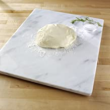 """Grameen Bharat Natural White Marble Pastry Board ✮ Extra Large Size 16""""x20"""" for Dough ✮ Cheese Board used in Kitchen ✮ Extra Thick and Strong Environmentally Friendly Cutting Board for Home"""