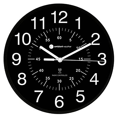 Ambient Weather Atomic Radio Controlled Wall Clock Minute RC-1200BWDN