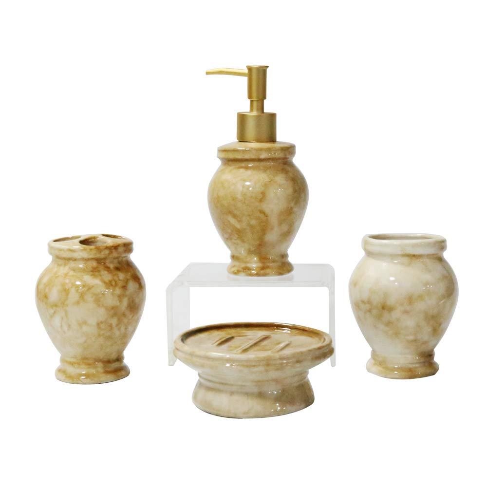 Mystery&Melody Purple Ceramic Bathroom Sets Lotion Bottle Toothbrush Holder Soap Dispenser Bathroom Supplies
