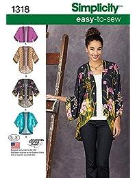 Simplicity Creative Patterns 1318 - Patrones de Costura para Chaquetas Kimono de Mujer (Talla A (XXS-XS-S-M-L-XL-XXL)