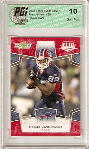 Fred Jackson Buffalo Bills 2008 Score Super Bowl SP Red Rookie Card PGI (Buffalo Bills Card Holder)