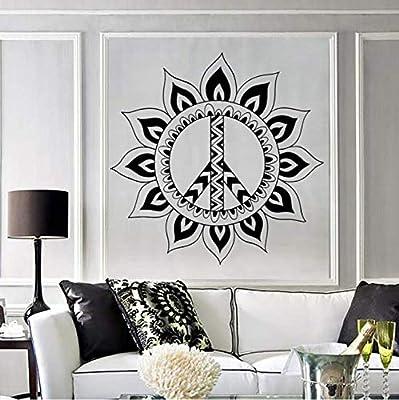 ZHUWall Mandala Hippie Símbolo De Paz De Vinilo Tatuajes De Pared ...