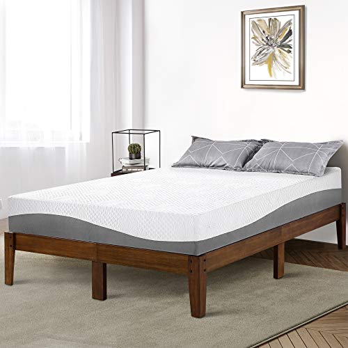 PrimaSleep 14 Inch Solid Wood Platform Bed Frame/Anti-Slip Support/No Box Spring Needed/Easy to Set Up,King,Natural ()