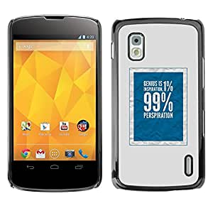 All Phone Most Case / Hard PC Metal piece Shell Slim Cover Protective Case Carcasa Funda Caso de protección para LG Google Nexus 4 E960 1 percent 99 rich social justice blue