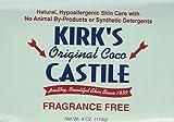 Kirks Natural Fragrance Free Original Coco Castile Bar Soap, 4 Ounce - 2 per case.