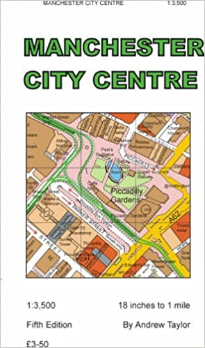 Manchester City Centre Map 5th Edition Amazoncouk Andrew