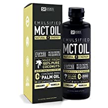 NEW!! Emulsified MCT OIL supporting energy and healthy metabolism | Mixes easly into any liquid - 100% Coconut sourced (Creamy Vanilla)