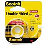 665 Double-Sided Office Tape w/Hand Dispenser, 1/2'' x 250'', Total 72 RL, Sold as 1 Carton