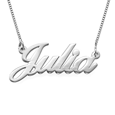 Amazon 14k white gold name necklace custom made with any 14k white gold name necklace custom made with any name aloadofball Images