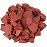 SUNYIK Natural Raw Stones Rough Rock Crystals for Tumbling,Cabbing,Red Jasper,1pound(About 460 Gram)