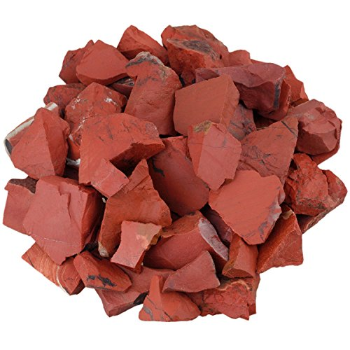 (SUNYIK Natural Raw Stones Rough Rock Crystals for Tumbling,Cabbing,Red Jasper,1pound(About 460 Gram))