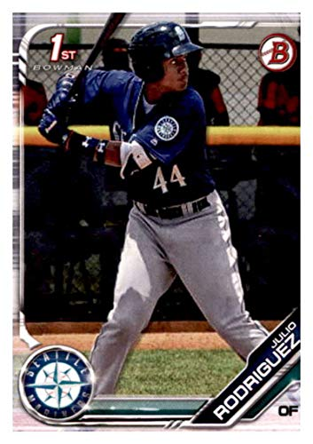 2019 Bowman Prospects Baseball #BP-33 Julio Rodriguez Seattle Mariners Official MLB Trading Card From Topps