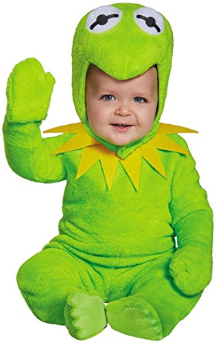 Kermit The Frog Toddler Costumes (Disguise Baby Boys' Kermit Infant Costume, Green, 12-18 Months)