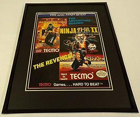 Tecmo Ninja Gaiden II 1990 NES Nintendo 11x14 Framed ...