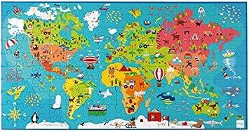 Scratch 6181076 Puzzle XXL mapamundi, 150 Piezas: Amazon.es ...