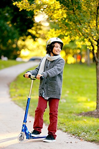 Micro Sprite 2-Wheeled, Smooth-Gliding, Foldable Micro Scooter for Kids, Ages 8 to Adult - Blue