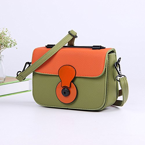 Pu Crossbody Green Bag Green A Haihuayan Bags Femme Army Woman Shoulder Color Main Messenger Womens Small On Bag Bag Army Bag E4Bq0