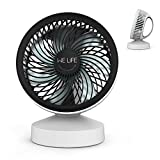 WELife USB Fan Mini Table Fan with Handle, Portable Quiet Electric Desktop Small Fan for Home, Traveling and Office (USB Power)