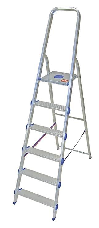 escalera de Aluminio resistente a tijeras con Superficie - 6: Amazon.es: Bricolaje y herramientas