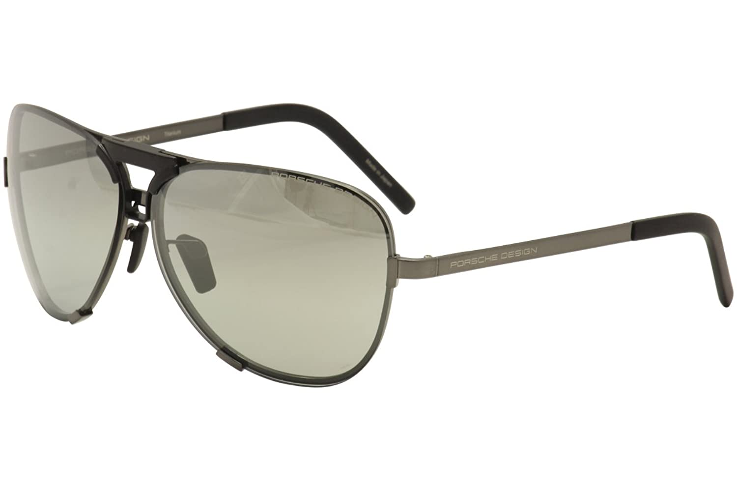 c10677677755 Porsche Design P8678 A Dark Gun Aviator Mens Sunglasses Interchangeable  Lens outlet