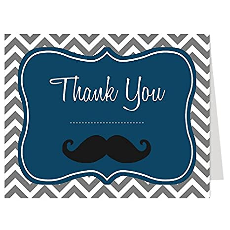 Amazon Com Little Man Thank You Cards Baby Shower Birthday