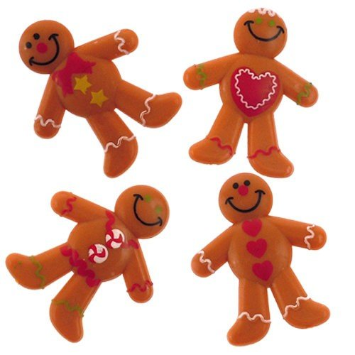 Gingerbread Men Bendables - 12 Pack by Fun Express