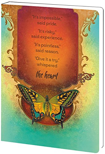 - Tree-Free Greetings Recycled Soft Cover Journal, Ruled, 5.5 x 7.5 Inches, 160 Pages, Not Impossible Themed Inspirational Quote Art (89169)
