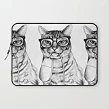 T18ager Laptop sleeve 13 inch,Full Mac Cat Water-resistant Neoprene Laptop Sleeve for iPad Pro / MacBook Air / MacBook Pro / Notebook / Ultrabook / Chromebook 13 - 13.3 Inch