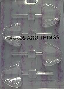TEETH LOLLY Chocolate Candy Mold With © Candy Making Instruction -set of 3