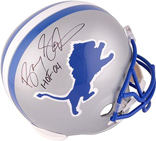 Barry-Sanders-Detroit-Lions-Autographed-Riddell-Replica-Helmet-with-HOF-04-Inscription-Fanatics-Authentic-Certified