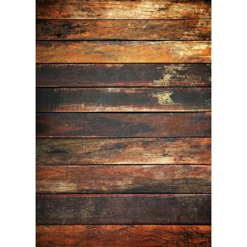 Photography Weathered Faux Wood Floor Drop Background Mat CF1055 Rubber Backing, 8'x8' High Quality Printing, Roll up for Easy Storage Photo Prop Carpet Mat by PHOTOGRAPHY OUTLET