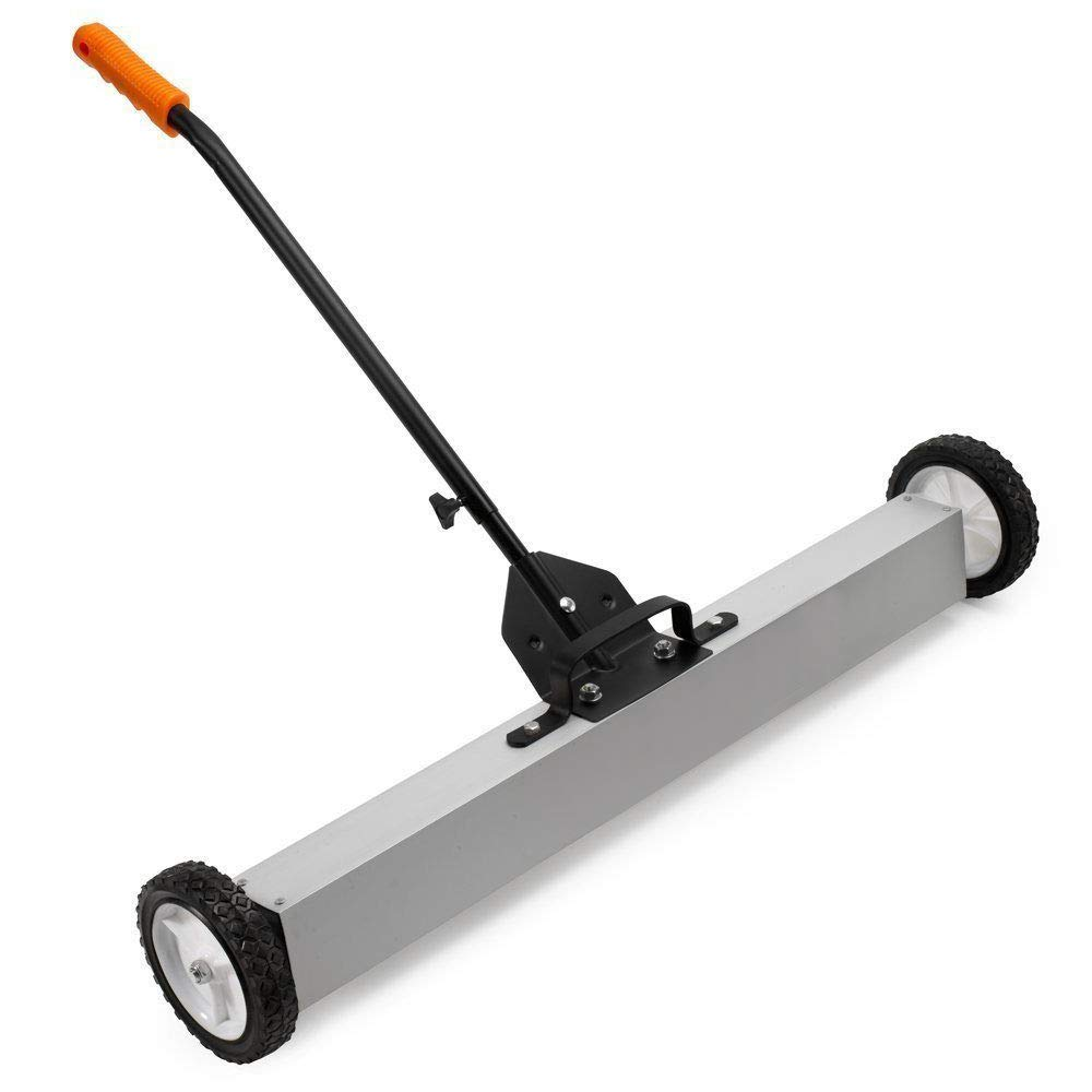 Heavy Duty Magnetic Floor Sweeper | XL Wide Pick Up Roller Push Broom Tool (36'')