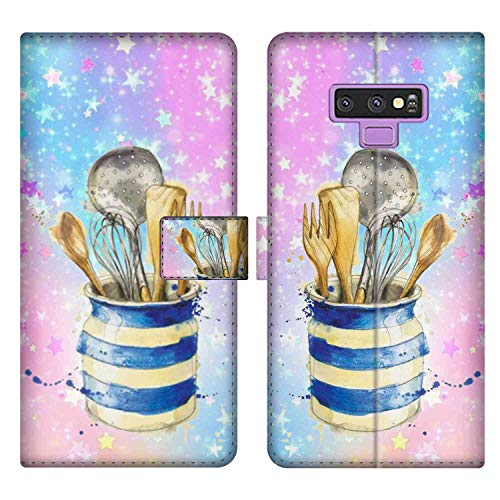 Kitchenware Galaxy Note 9 Phone Wallet Case 6.4-Inch Team (Shovel Team)