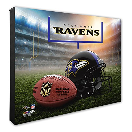 NFL Baltimore Ravens Helmet & Stadium High Resolution Canvas, 20