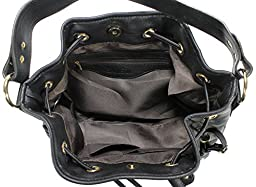 Scarleton Large Drawstring Handbag H107801 - Black