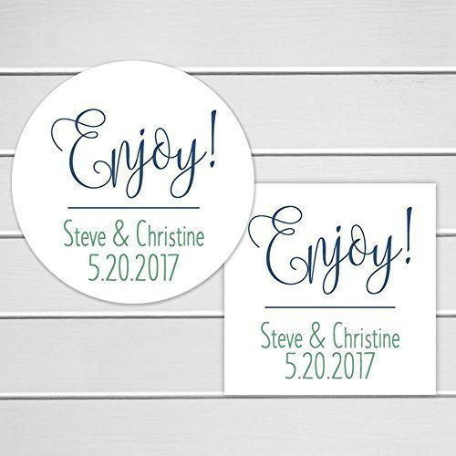 Wedding Favor Stickers | Amazon Com Enjoy Stickers Wedding Favor Labels Wedding Stickers
